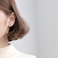 女可爱鹿角耳钉人工珍珠无耳洞小鹿耳饰品s925银耳夹