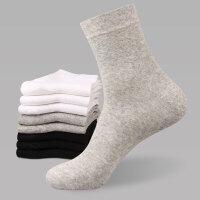 男士商务中筒棉袜秋冬季松口高腰男袜加厚吸汗男袜子