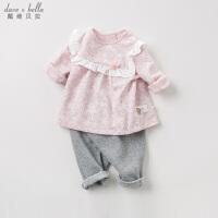 davebella戴维贝拉春装新款女童套装宝宝印花两件套DB11561
