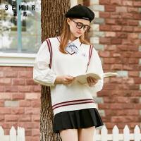森马2020秋季新款女装针织背心日系青春休闲减龄学院风毛织背心