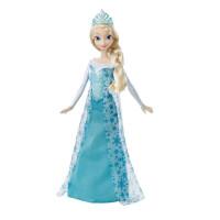 芭比娃娃冰雪奇缘之闪耀安娜艾莎女孩芭比玩具