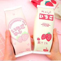 个性创意零食造型笔袋简约韩国风小清新文具袋男女生初中生大小学生可爱笔盒大容量卡通搞怪趣味潮零食草莓盒