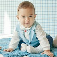 davebella戴维贝拉2020春装新款婴幼儿连体衣宝宝爬服DBH12493