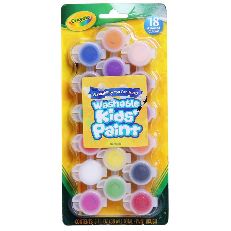 当当自营Crayola 绘儿乐 18色可水洗水彩颜料 54-0125