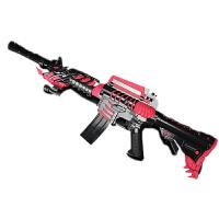 M4A1黑骑士电动连发软弹枪冲锋枪雷神AK47儿童玩具枪绝地吃鸡1男孩 【M4A1-黄金雷神】 电动连发