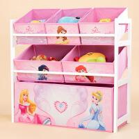 儿童收纳架 男女童落地多层卡通玩具收纳架子2019家用客厅幼儿园宝宝大容量多功能整理玩具储物箱子