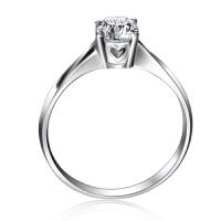 梦克拉Mkela 18K金钻石戒指结婚女戒 心随意动 钻戒单戒心形女戒指