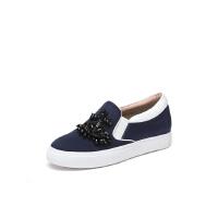 红蜻蜓旗下品牌红蜻蜓女鞋秋季新款舒适休闲低跟粗跟单鞋女小白鞋