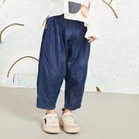 【秒杀价:167元】马拉丁童装女大童裤子春装2020新款宽松哈伦裤儿童长裤牛仔裤