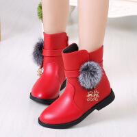 女童靴子3冬天公主雪地靴5儿童鞋7小孩穿的4-13岁6女孩保暖皮靴十
