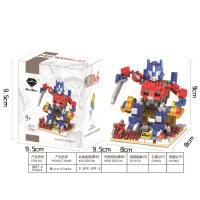 兼容乐高钻石小颗粒积木拼装玩具人仔 变形金刚系列 儿童玩具益智积木男孩子礼物