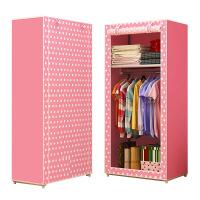 简易衣柜学 生宿舍 单人小衣橱置物整理收纳柜经济型钢管加粗布衣柜-咖啡