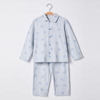 【2件3折 到手价:36】初纺2019夏季新款 男女宝宝 童装中性针织睡衣家居服套装