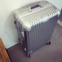 韩版铝框行李箱旅行箱拉杆箱男女士万向轮密码皮箱小清新20 可商务