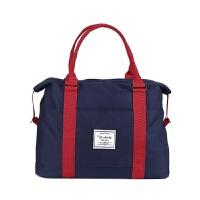 短途帆布旅行袋女男手提包大容量健身单肩包多功能行李登机包 大