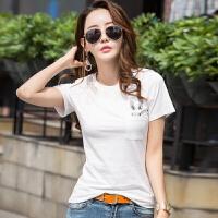 �B恤女装短袖百搭2019夏装新款女式白色短袖t恤时尚休闲半袖体恤