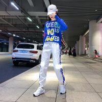 潮牌热推夏季爵士舞演出服新款韩版嘻哈舞蹈大码套装成年网红鬼步舞蹈练功服女