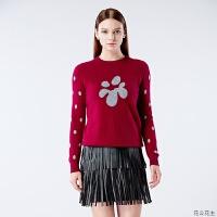 羊绒衫女2018新款秋冬圆领纯羊绒针织衫小清新学院风套头毛衣