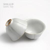 (PU RUN) 陶瓷故事 汝窑茶具 葵口杯 开片品茗杯功夫茶杯60毫升