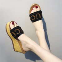 时尚坡跟凉拖鞋女外穿可湿水户外百搭女鞋