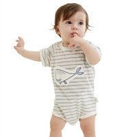 夏季薄款春装婴儿宝宝儿童衣服连体衣包屁衣三角哈衣棉