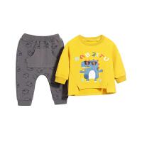 婴儿两件套春装男童衣服儿童春秋童男宝宝春季套装