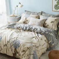 四件套棉床品套件被套床单三件套1.5米1.8m床上用品y 1.2米(4英尺) 床单款 被套150x200cm