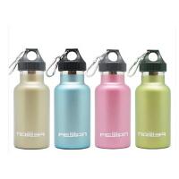 时尚新款儿童水杯   不锈钢真空保温杯   带盖防漏水杯350ml  户外运动水壶