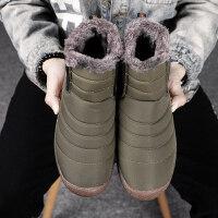 雪地靴男士冬季保暖加绒防水防滑面包二棉鞋鞋东北加厚马丁棉靴潮