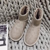 雪地靴女2019秋冬季新款韩版百搭加绒棉保暖厚底学生棉鞋短筒靴