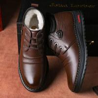 棉鞋男冬季保暖加绒男士羊毛休闲高帮鞋子冬天加厚棉皮鞋
