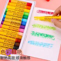 日本进口樱花牌油画棒12色24色安全无毒可水洗重彩油化棒幼儿园宝宝美术画画笔套装炫彩棒儿童涂色彩笔软蜡笔