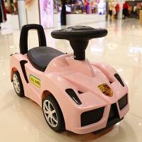 法拉利儿童滑行车四轮扭扭车带音乐宝宝车小孩溜溜车1-3岁玩具车