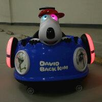 婴儿童电动车四轮汽车摩托车手推车充电玩具可坐人小孩遥控摇摇车 豪华版 蓝色电动遥控自驾+铝合金推杆+摇摆+皮座