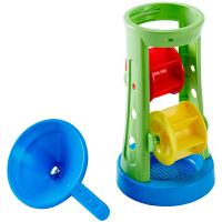Hape沙滩双轮沙漏1-6岁儿童沙滩玩具宝宝启蒙益智运动户外玩具玩具E4046