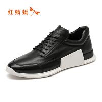 红蜻蜓男鞋休闲皮鞋秋冬休闲鞋子男运动男鞋WTA7498