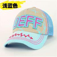 帽子儿童男女帽子宝宝棒球帽韩版潮透气网格棉帽小孩帽子