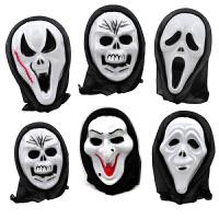 万圣节恐怖面具魔鬼鬼脸头套尖叫搞怪吓人整蛊骷髅面具道具创意小礼品抖音玩具
