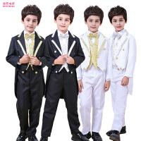 儿童燕尾服小西装钢琴演出服装男孩花童礼服男童礼服套装