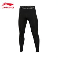 李宁健身裤男士训练系列速干凉爽紧身训练服针织运动裤AULL041