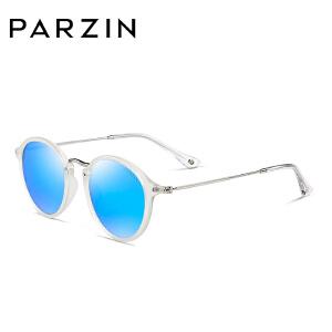 帕森彩膜太阳镜 TR90偏光太阳镜女 情侣圆框墨镜男司机驾驶镜8077