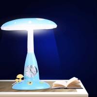 护眼台灯节能儿童学生学习带钟表闹钟书桌卧室