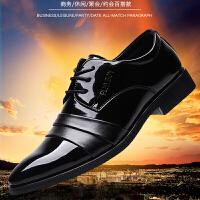 天天男士皮鞋韩版秋季新款商务正装男鞋英伦尖头低帮鞋休闲鞋 黑色 19