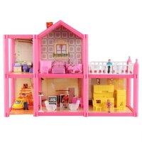 小女孩的玩具房子芭比娃娃度假屋梦想豪宅公主城堡别墅 其他尺寸