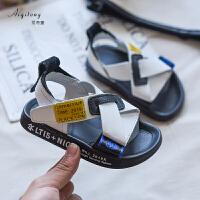 儿童凉鞋男男童休闲鞋中大童软底防滑男孩沙滩鞋