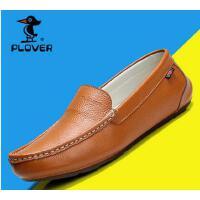 Plover豆豆鞋男鞋休闲鞋男士真皮鞋英伦驾车鞋潮流懒人鞋子冬A08018