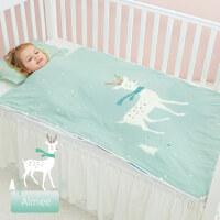 婴儿睡袋春秋冬季冬款厚儿童纱布中大童宝宝四季通用被