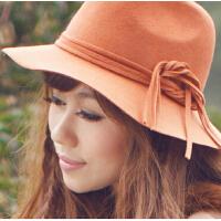韩版时尚帽新款女户外防晒大沿帽遮阳帽百搭时尚圆顶礼帽
