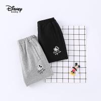 【2件3折价:48.9】迪士尼宝宝快乐星球男童针织七分哈伦裤夏季新品