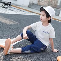男童运动套装夏儿童中大童12-15岁休闲两件套